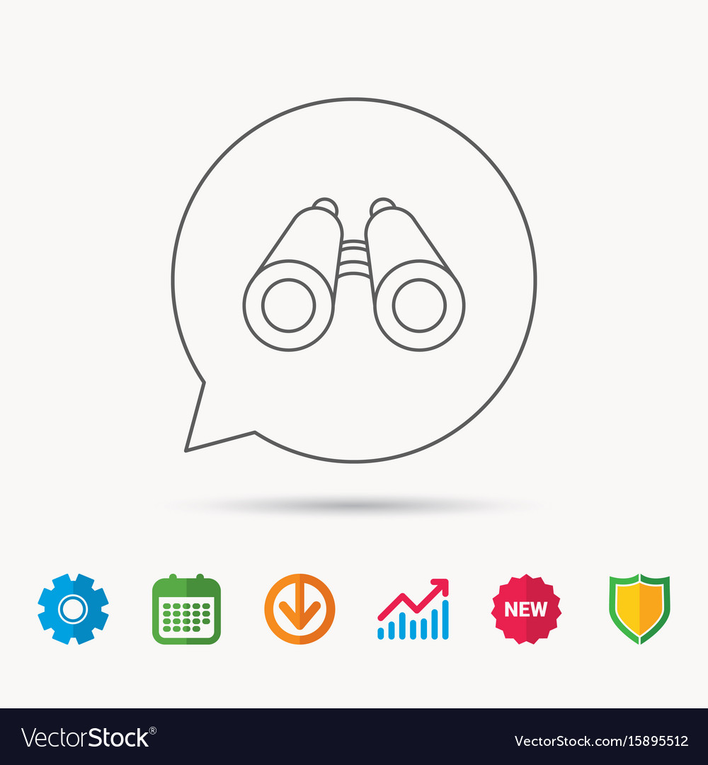 Search icon binoculars sign vector image