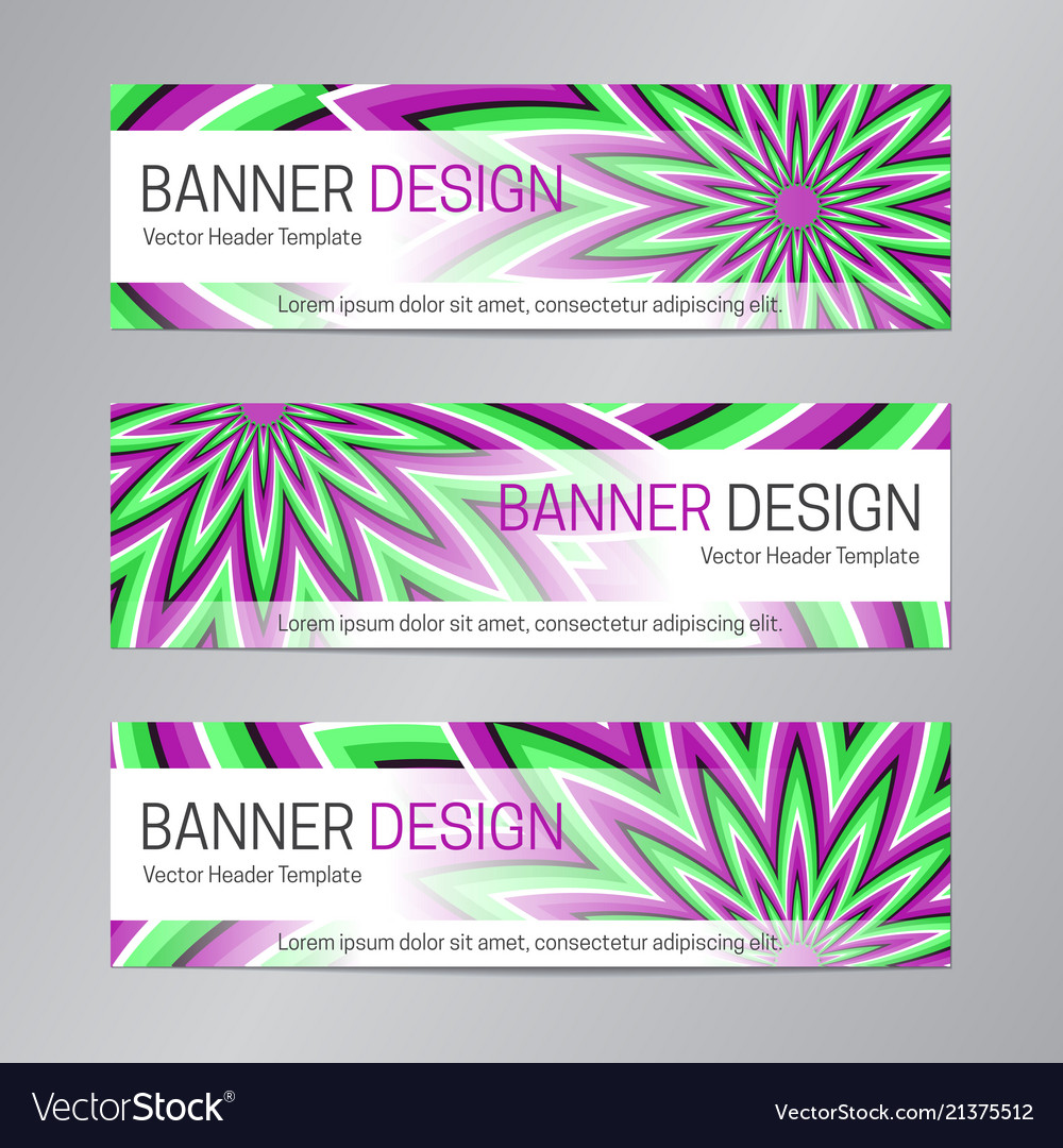 Web header design purple green banner template