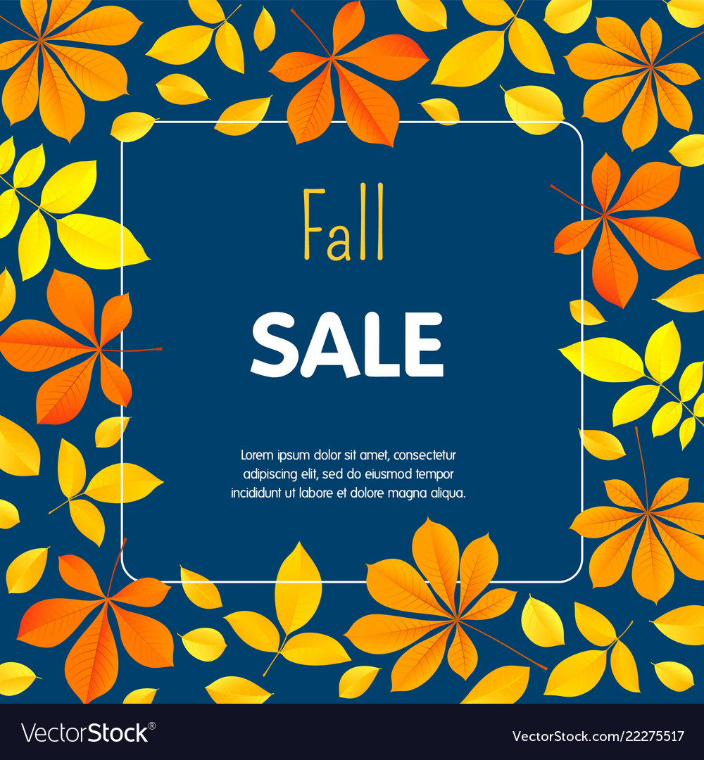 Autumn fall sale concept background flat style