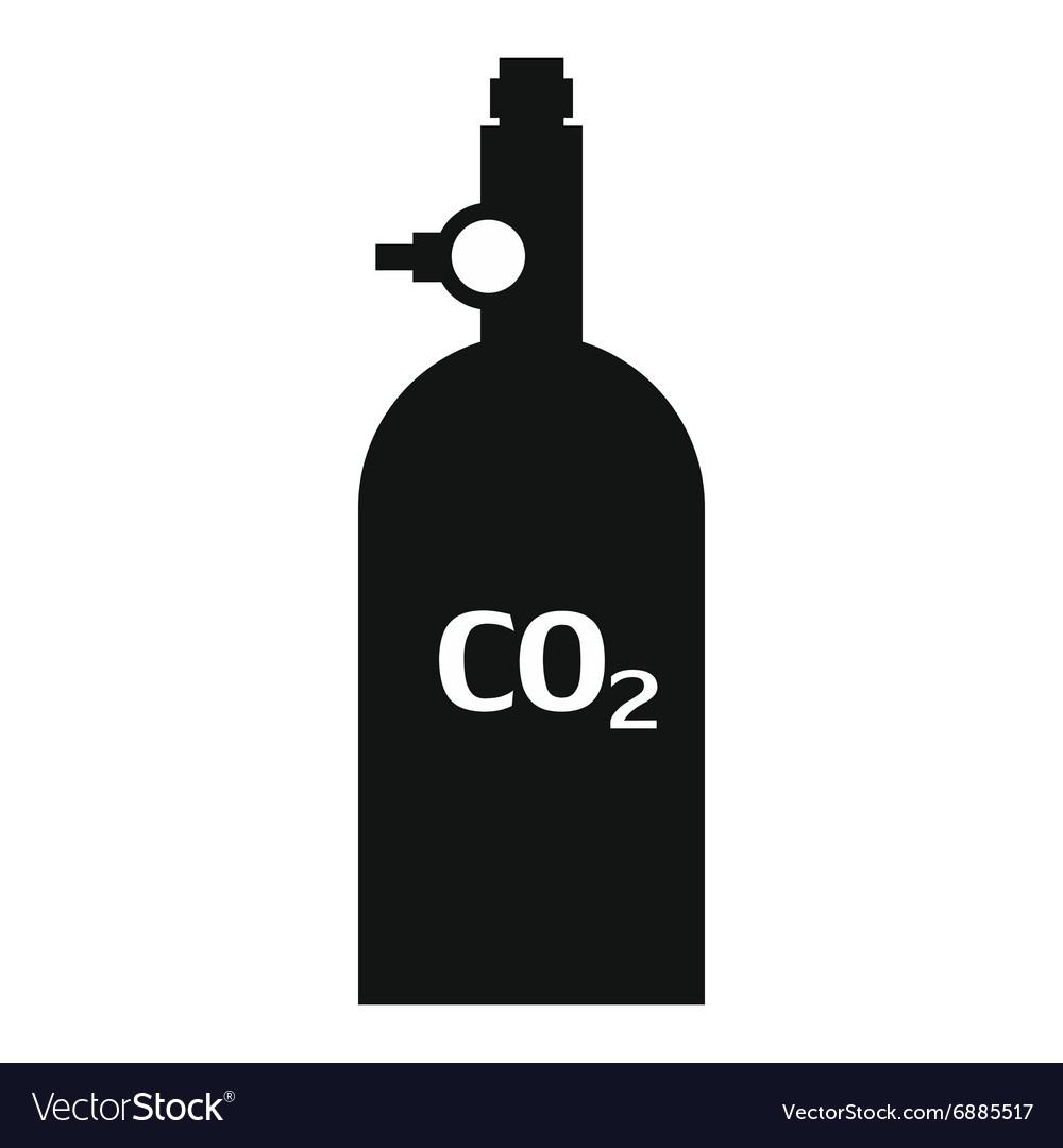 Gas hand grenade simple icon