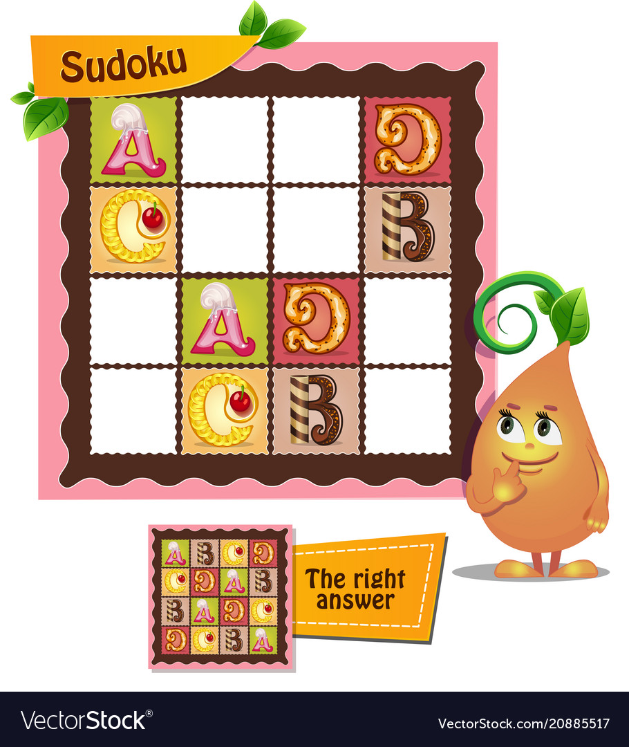 Sudoku game letters alphabet