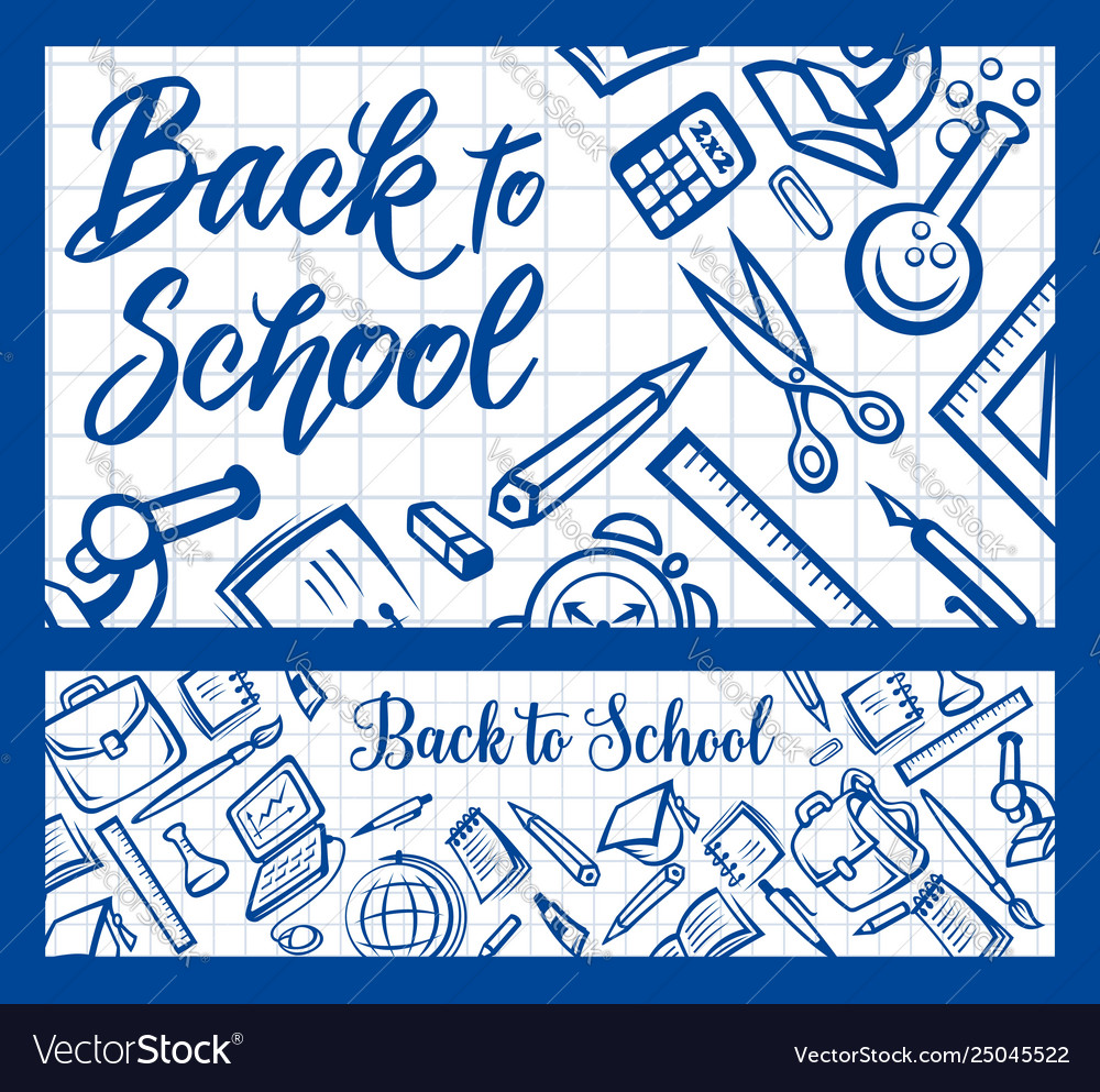 Back to school student education and college study