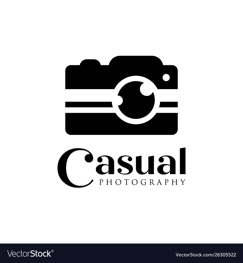 Casual camera photography logo icon template