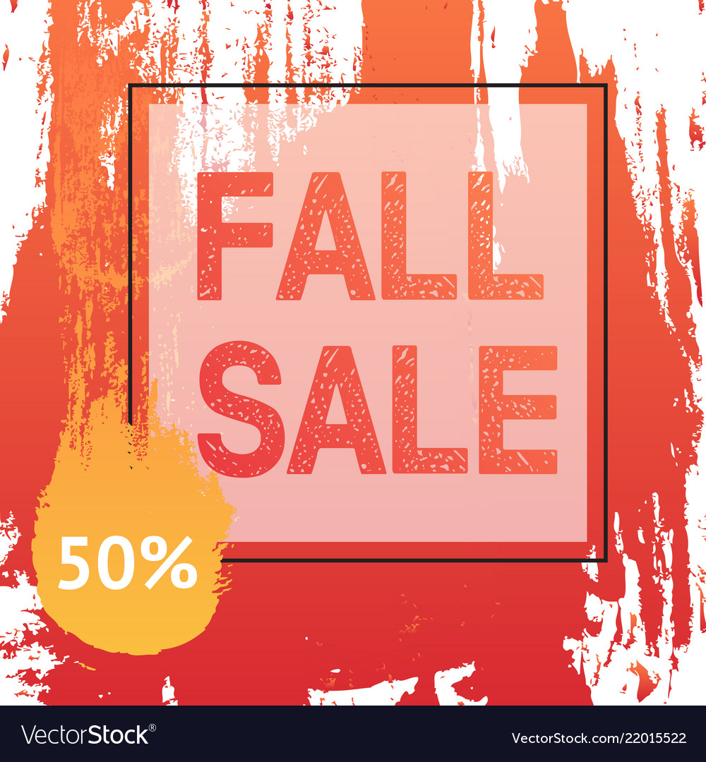 Fall autumn sale banner in frame