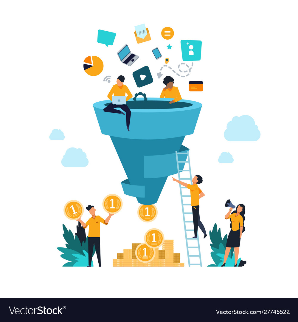 Funnel leads generation attracting followers