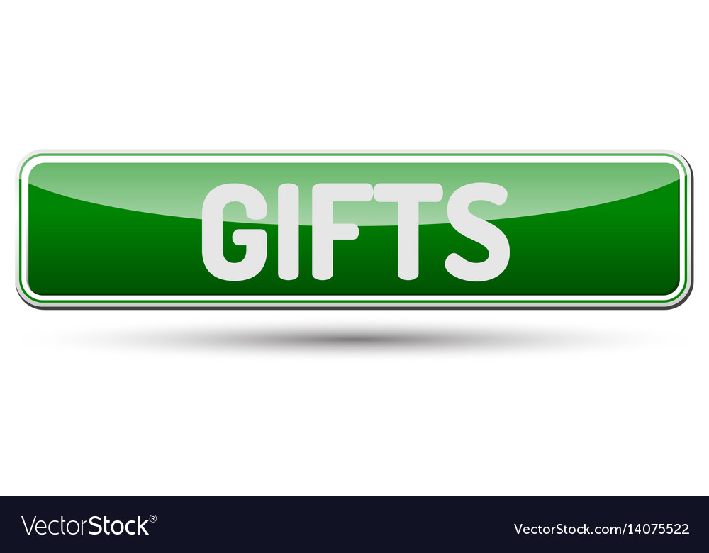 Gifts - abstract beautiful button with text vector image