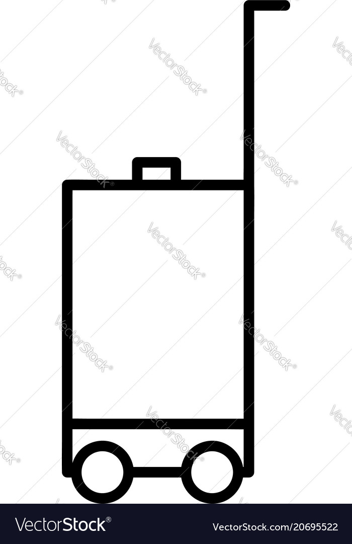 Luggage outline icon