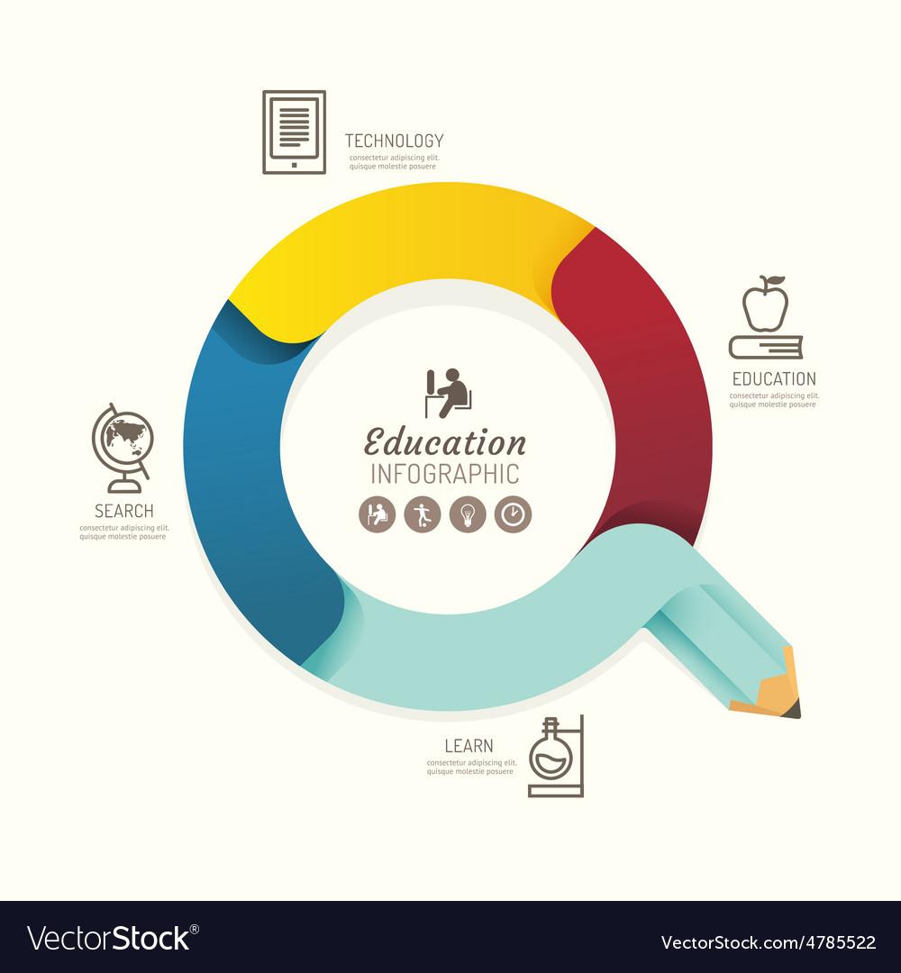 Modern infographics design pencil arrow options
