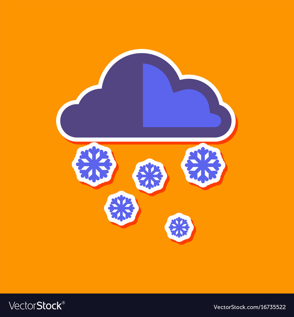 sticker sun with clouds icon