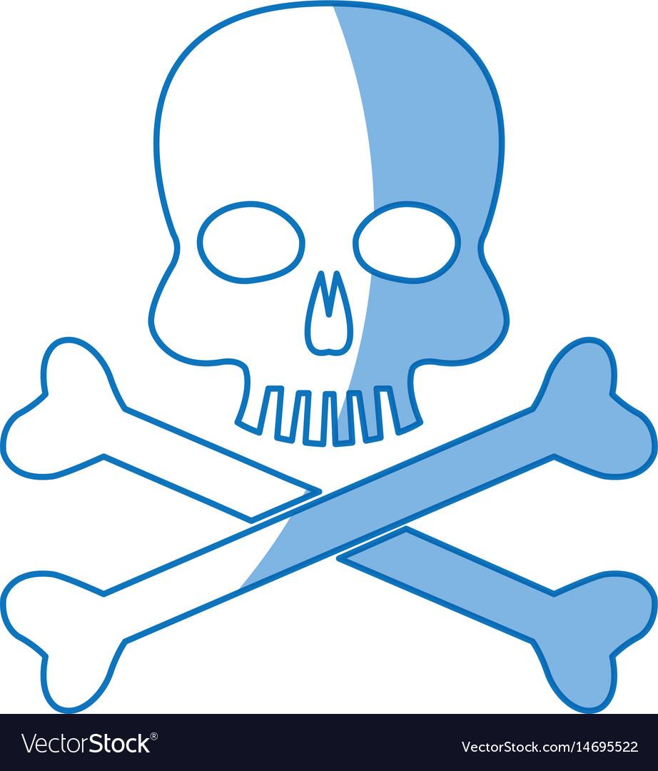 Skull Bones Danger Poison Laboratory Shadow Vector Image