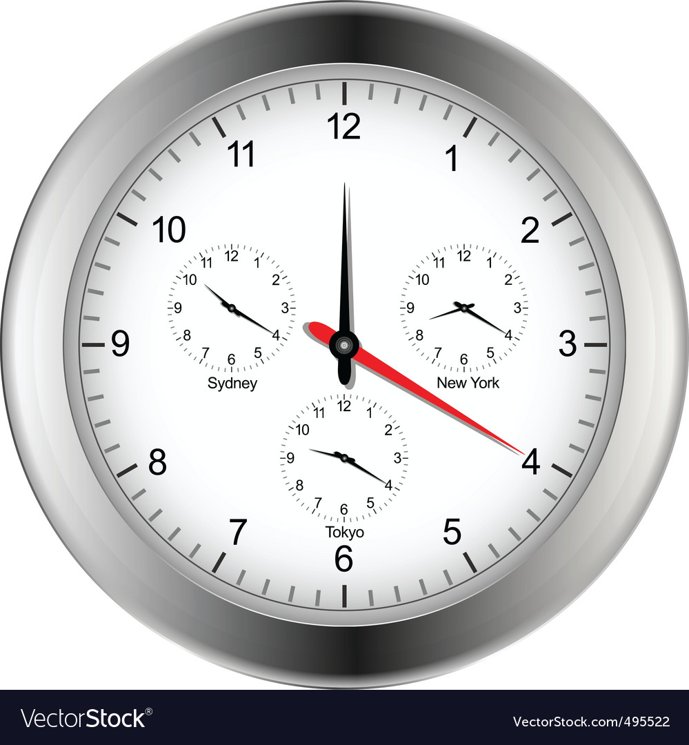 World time zone clock