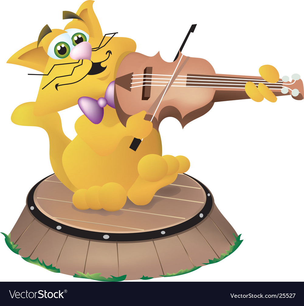 cat and the fiddle royalty free vector image - vectorstock