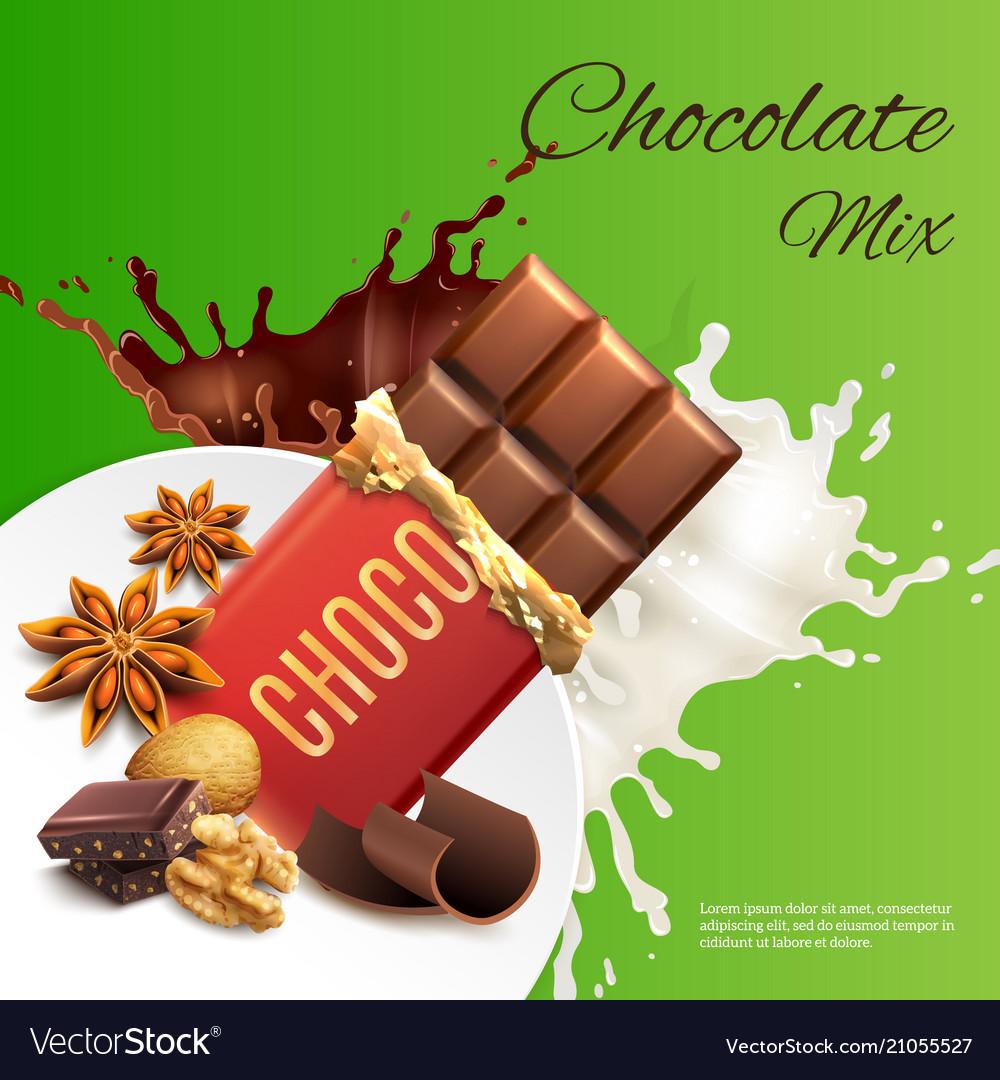 Chocolate mix realistic