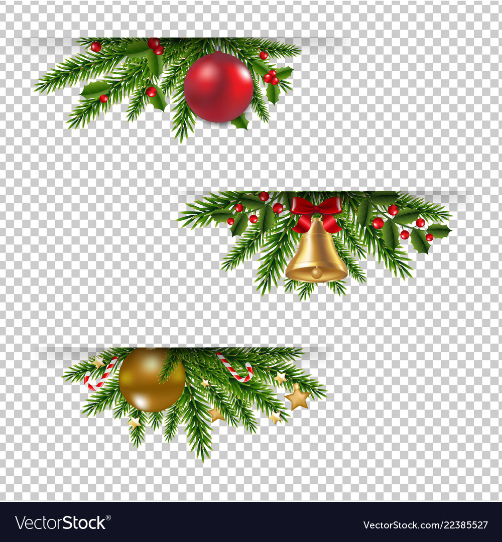 Christmas Graphics Transparent.Christmas Garland Set Transparent Background