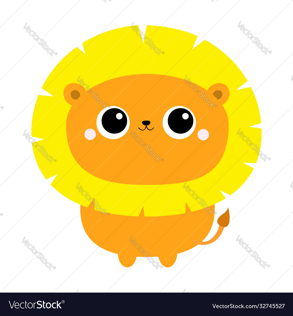 Lion toy icon cute cartoon funny character big