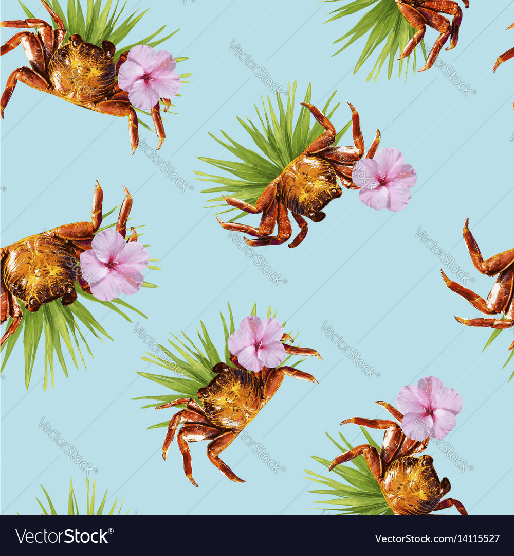 Tropical summer pattern of beach vacation design vector image