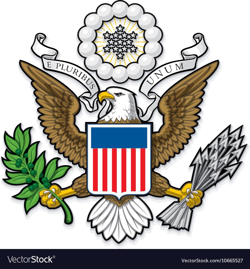 US Great Seal Bald Eagle vector image