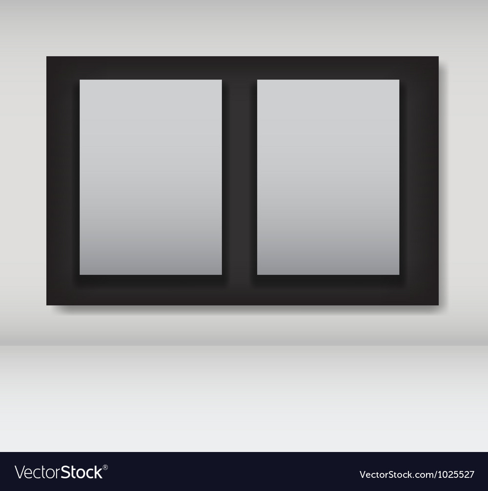 White frames in art gallery ector Royalty Free Vector Image