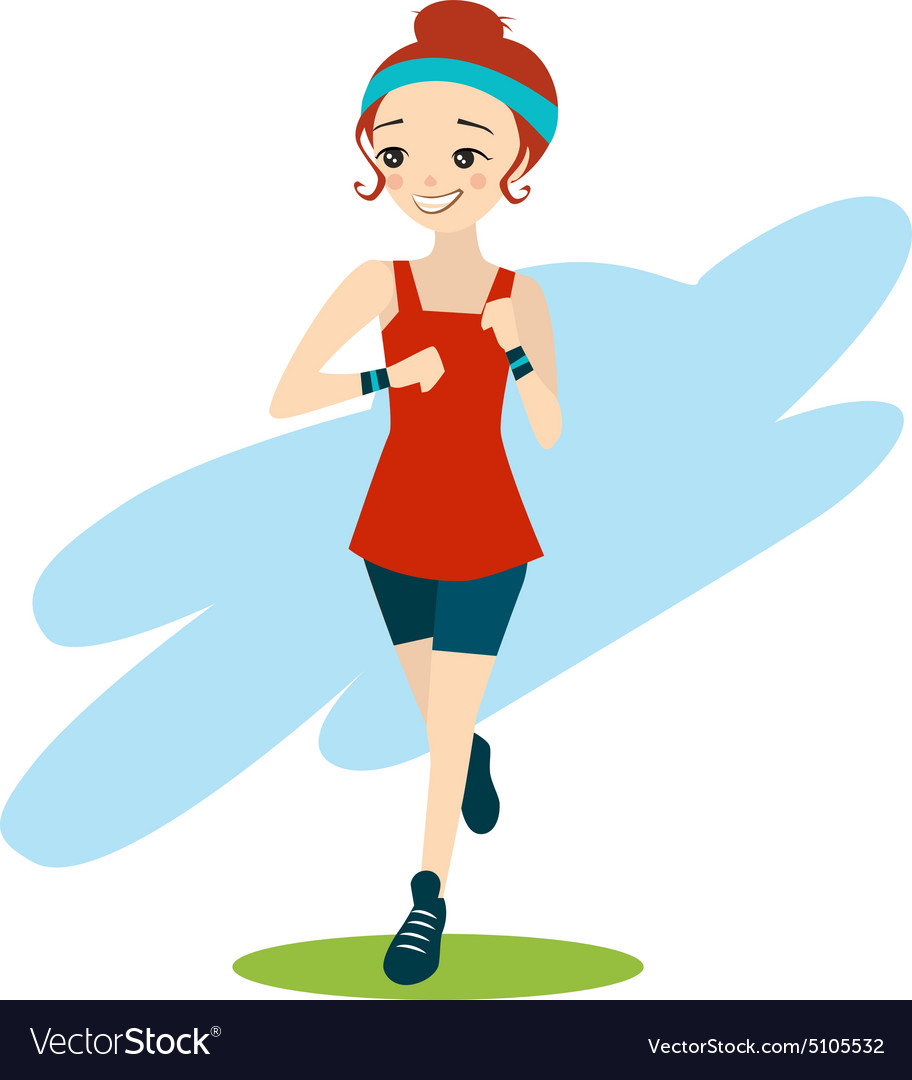 cartoon girl running