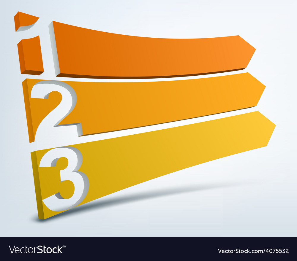 Abstract numbered banners with place for text