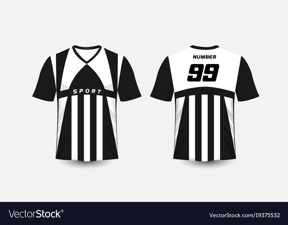 Black and white stripe pattern sport football vector image