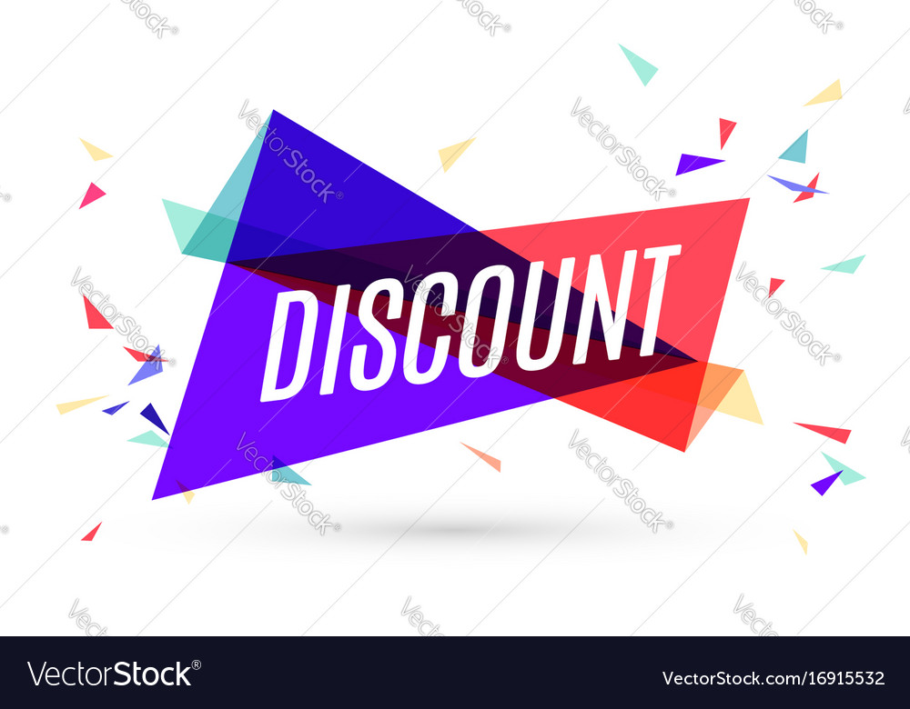 Colorful banner with text discount