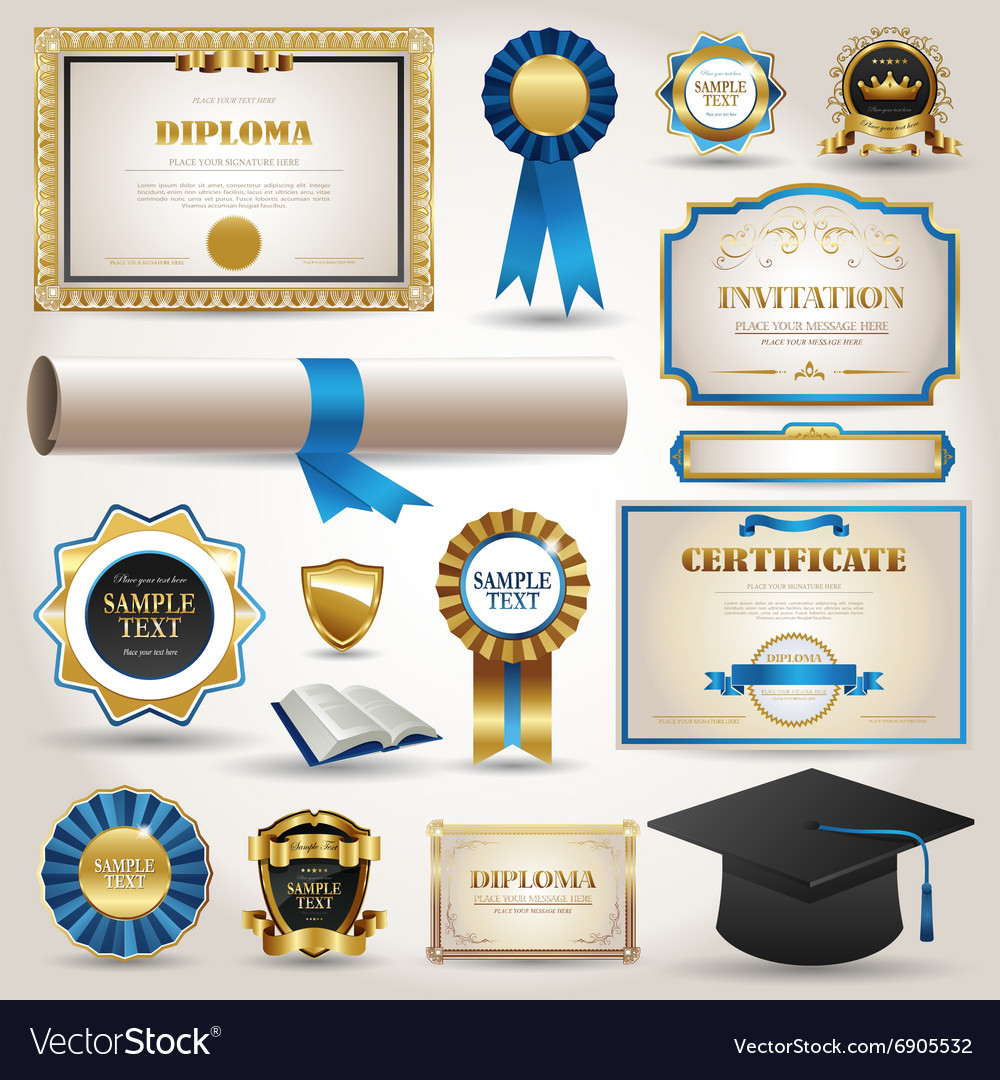 Graduation and certificate diploma elements