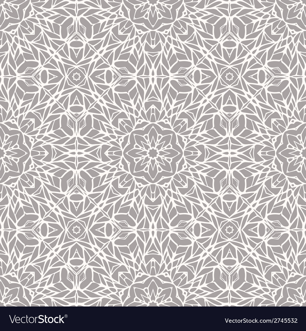 Seamless pattern with ethnic lace ornament