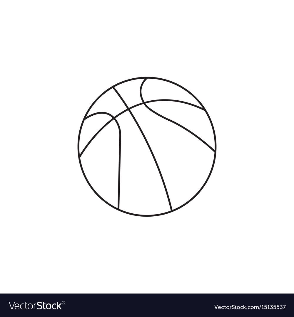 Basketball ball line icon sport graphics vector image