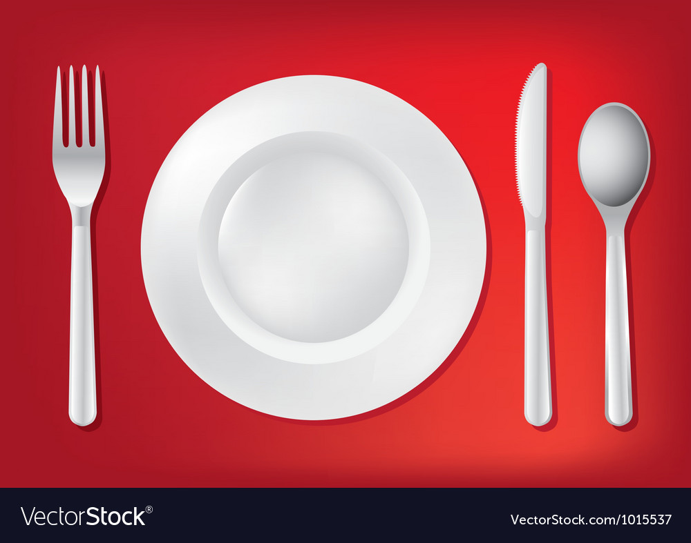 Dining Table Set Up vector image & Dining Table Set Up Royalty Free Vector Image - VectorStock