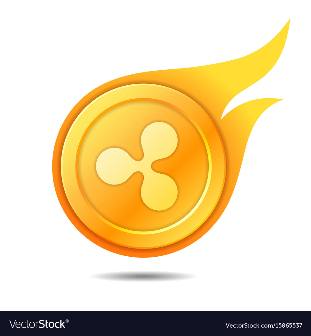 Flaming ripple coin symbol icon sign emblem