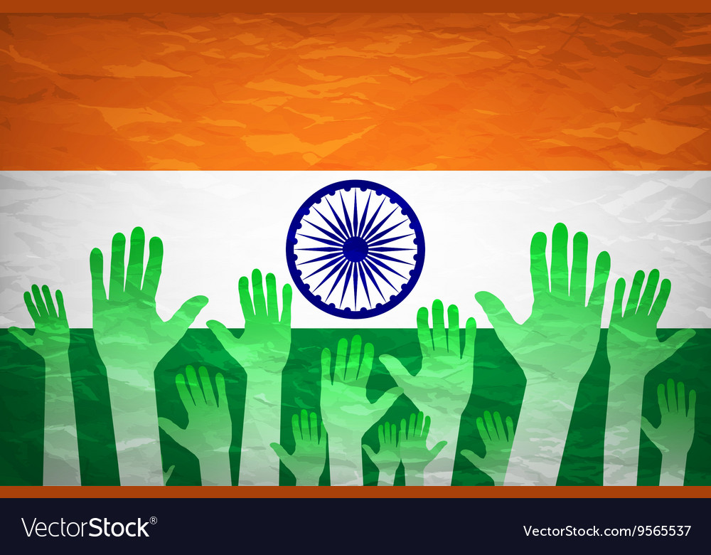 Hand With Voting Sign Of India Royalty Free Vector Image