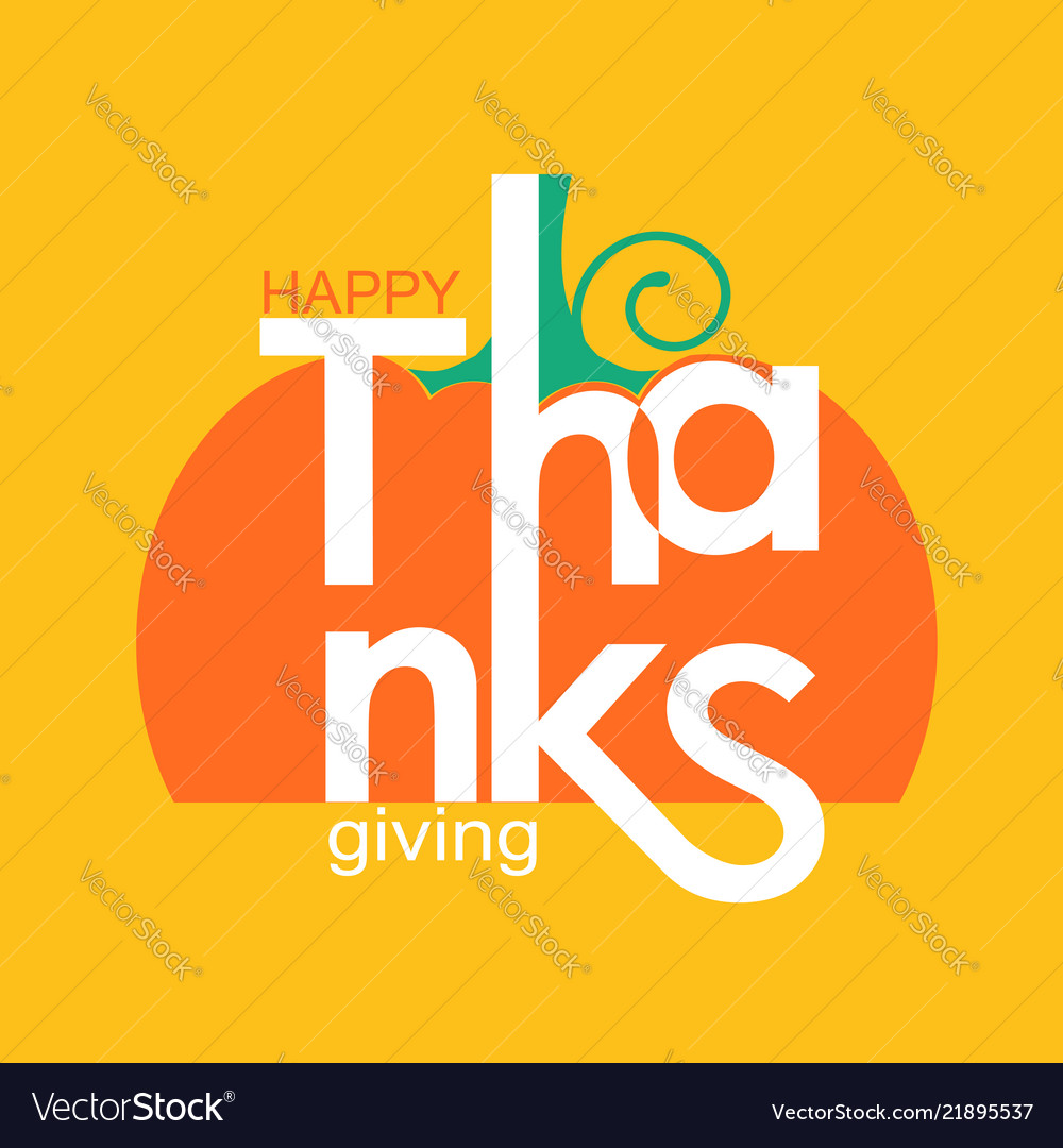 Happy thanksgiving day holiday card with symbol