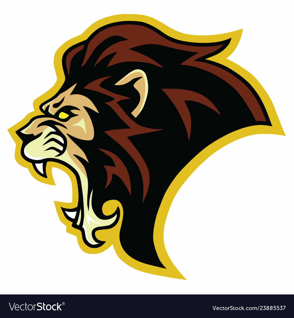 Lion roar logo mascot design template
