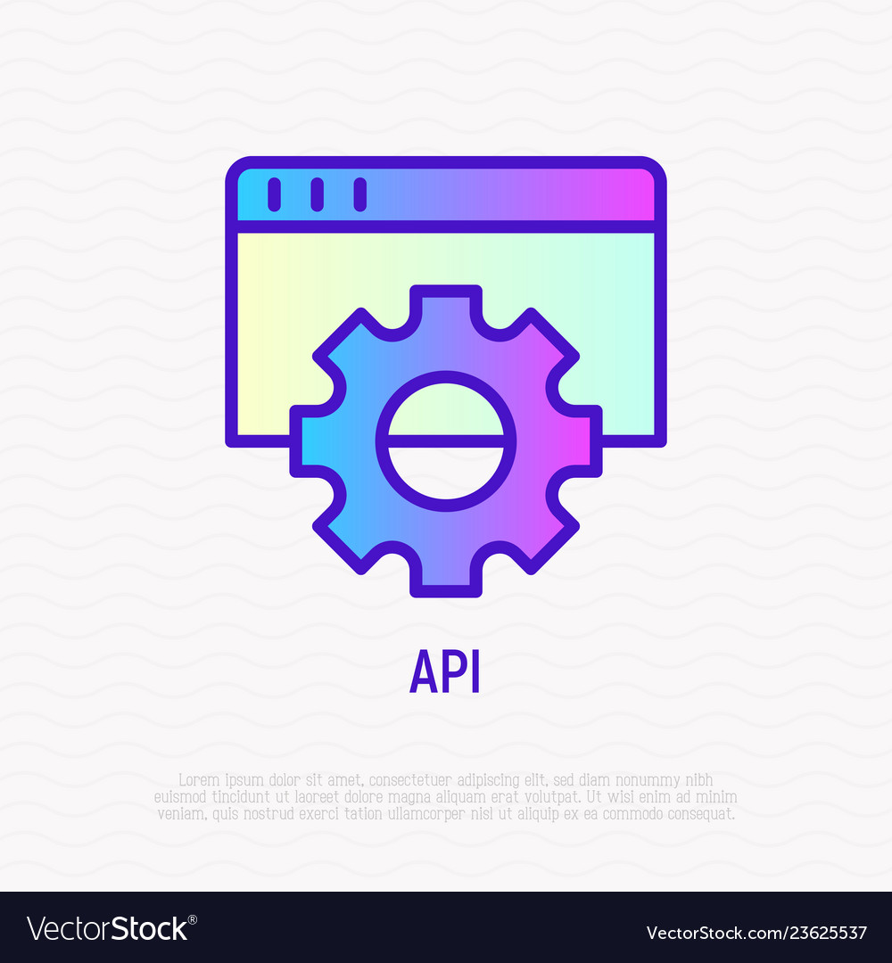 Modeling api thin line icon