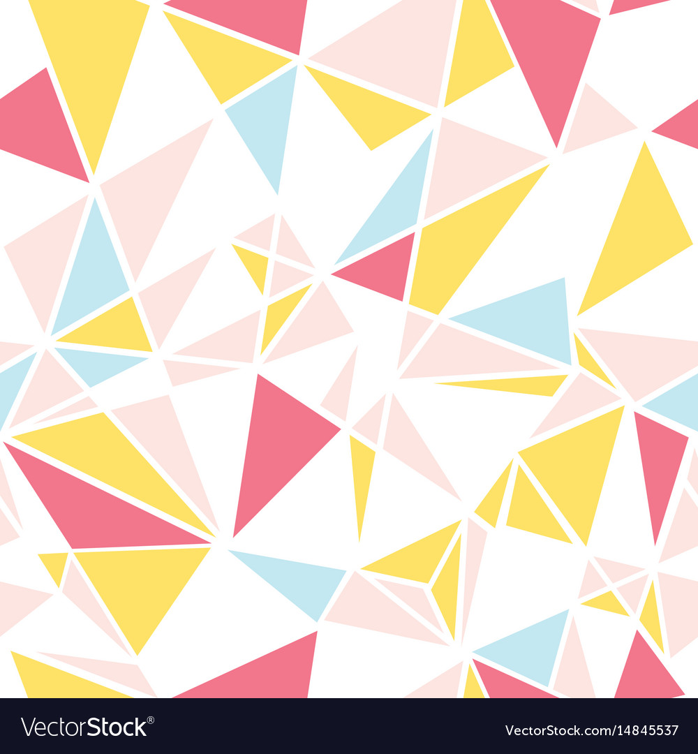 Pink blue and yellow triangles abstract