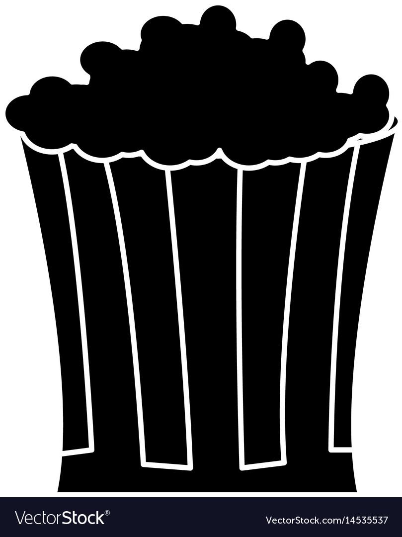 Pop corn food celebration party silhouette