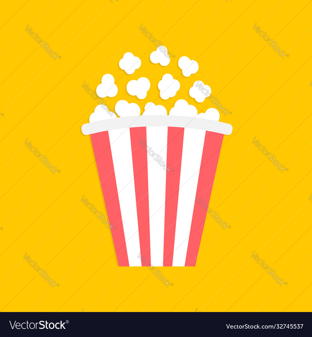 Popcorn big red white strip box cinema movie