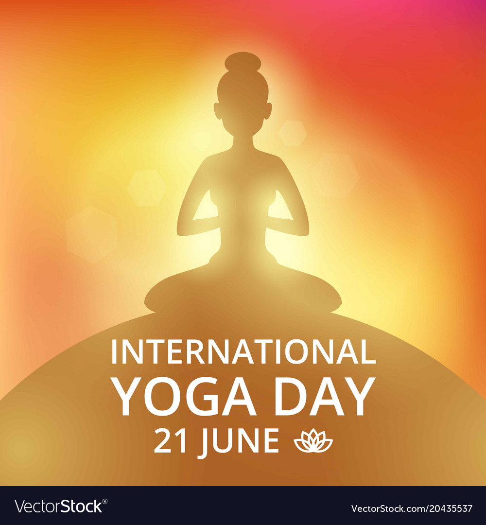 Poster Invitation On Yoga Day 21 June Royalty Free Vector