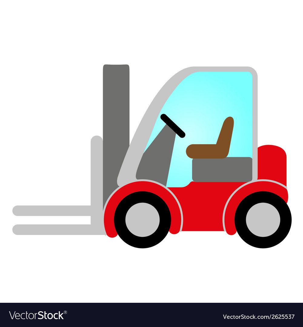 red forklift truck royalty free vector image vectorstock rh vectorstock com truck vector free vector truck
