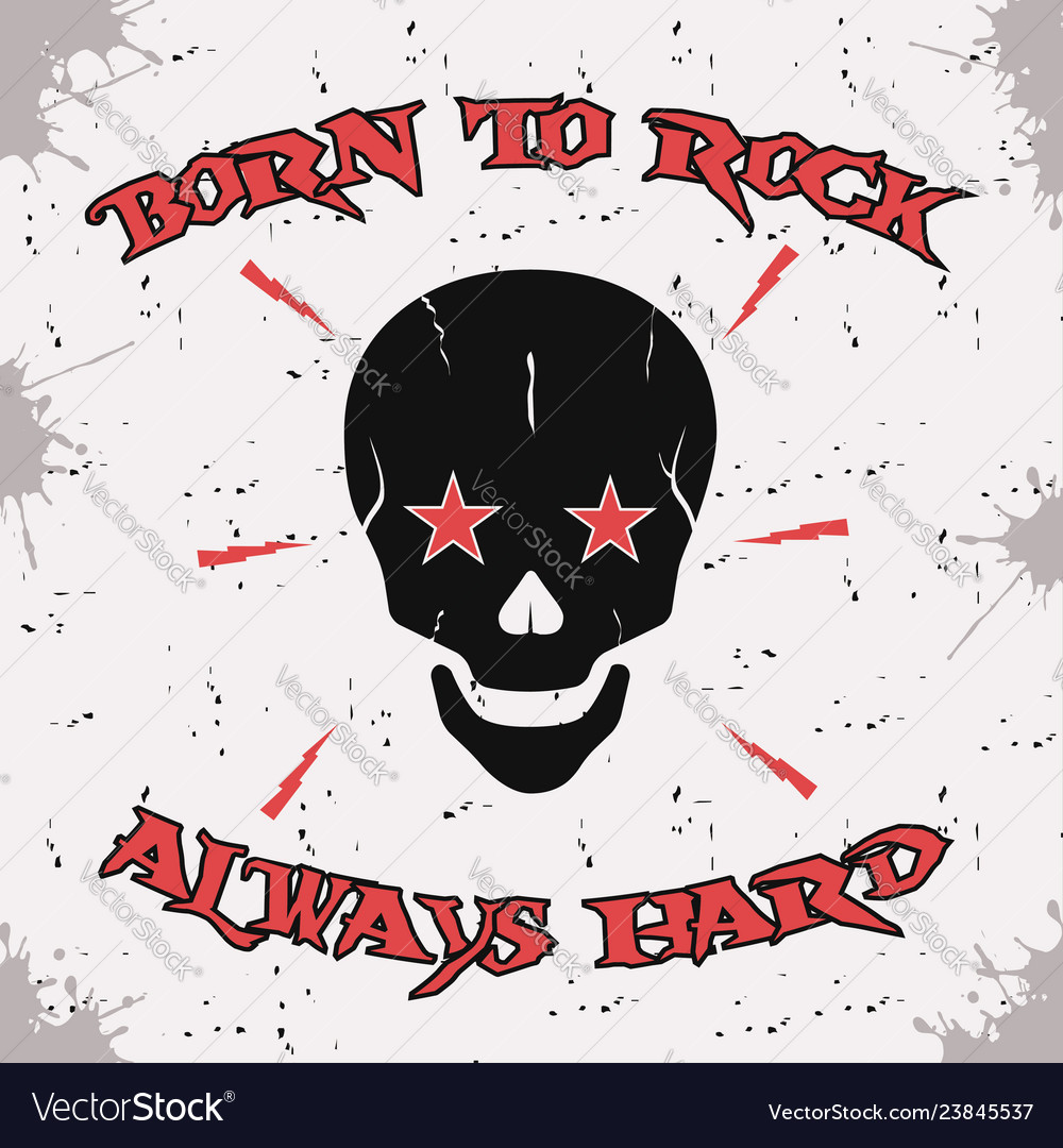 Rock and roll skull