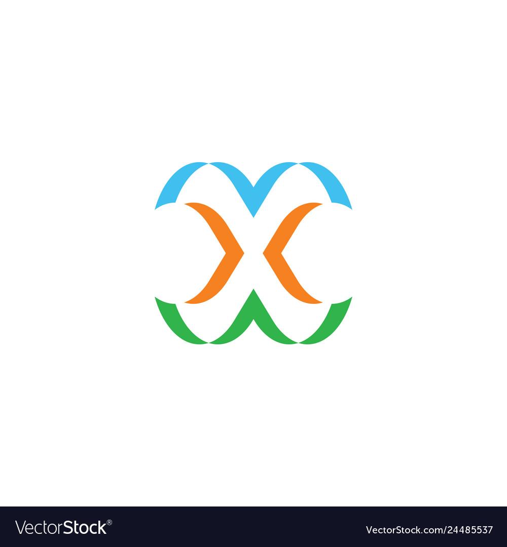 X logo stylized symbol sign element