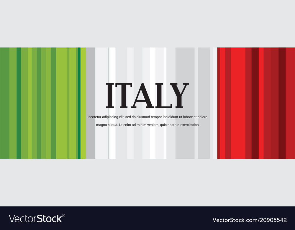Abstract italian flag abstract banner second of