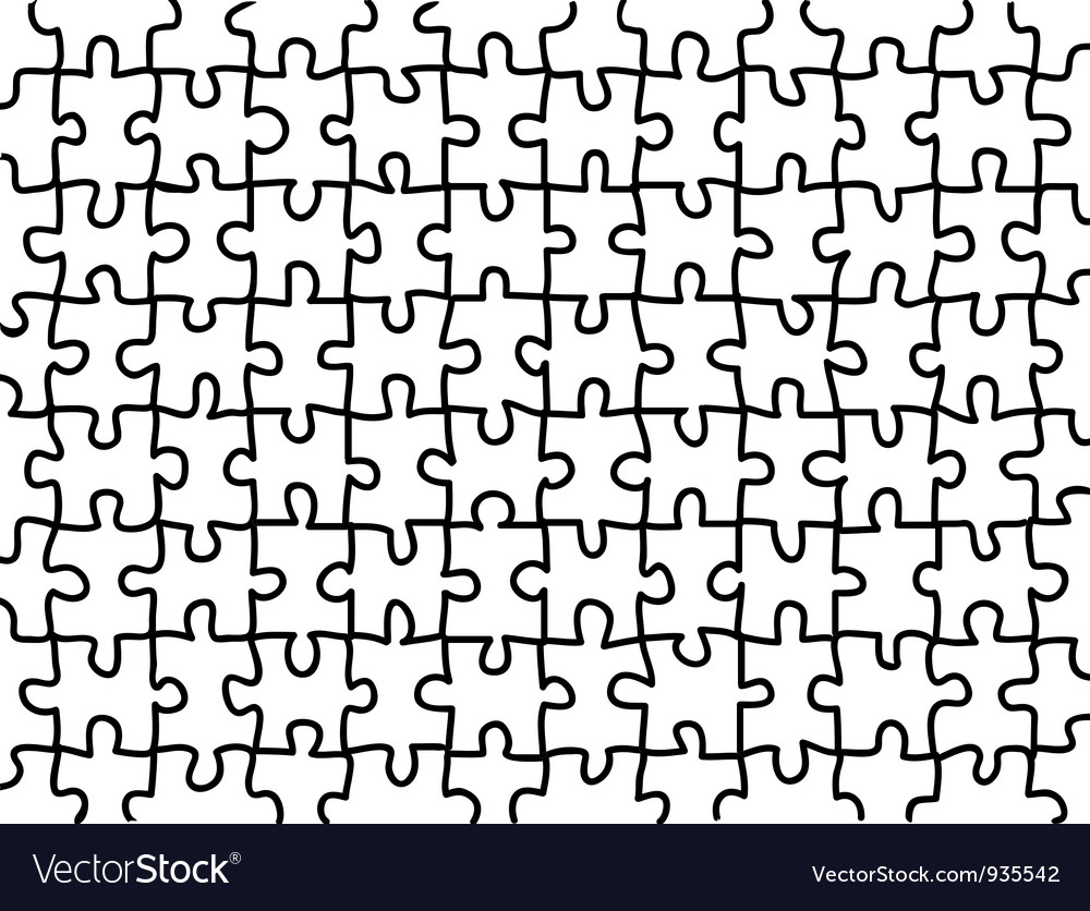 Blank jigsaw puzzle background Royalty Free Vector Image