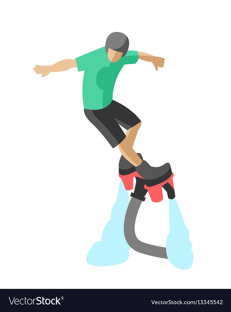 Extreme sport flyboard summer action splash active