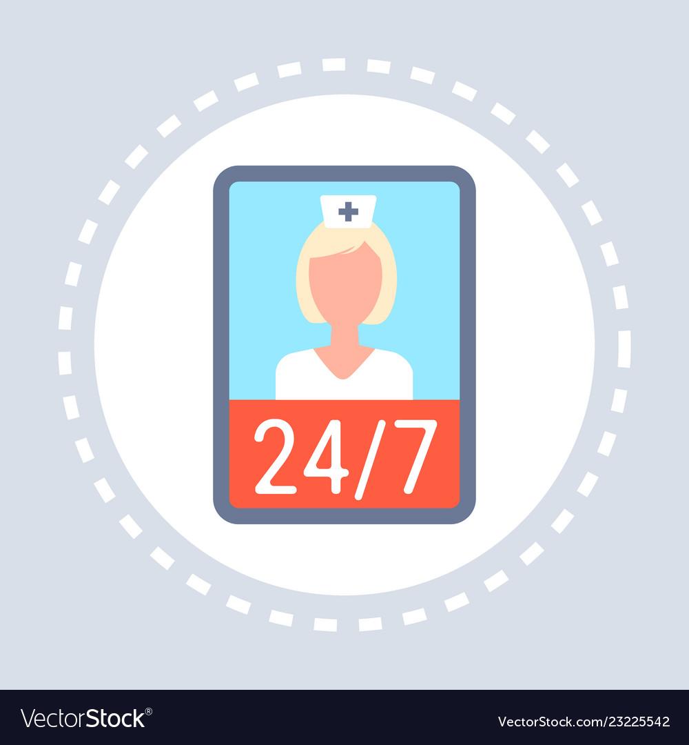 Female doctor online consultation mobile