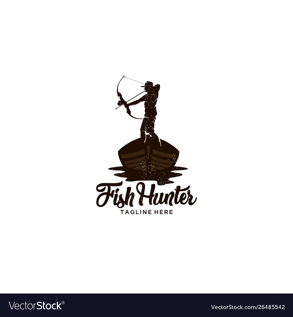 Fish hunter logo