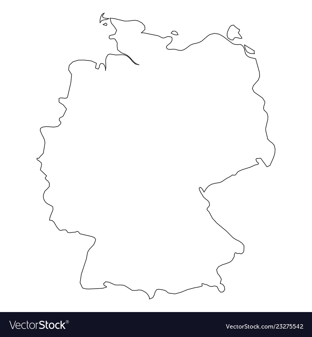 Map Of Germany Outline.Germany Solid Black Outline Border Map Of Vector Image