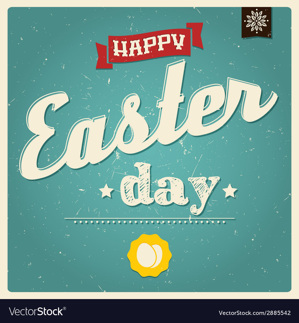 Happy easter day card typographical background