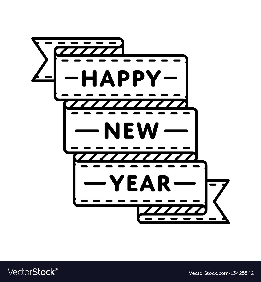 Happy new year to you greeting emblem